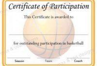 Basketball Camp Certificate Template 4