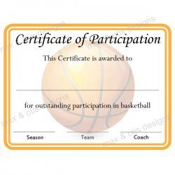 Basketball Camp Certificate Template 4