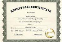 Basketball Camp Certificate Template 6