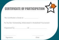 Basketball Camp Certificate Template 7