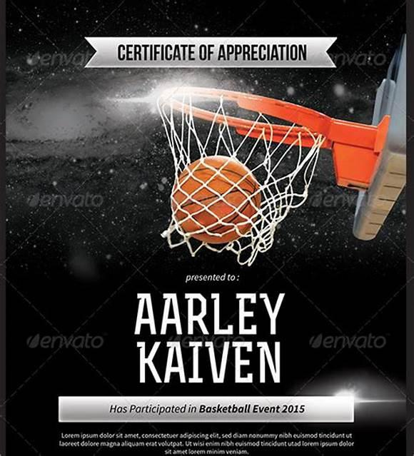 Basketball Camp Certificate Template 8