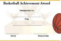 Basketball Camp Certificate Template 9