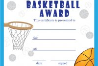 Basketball Certificate Template 2