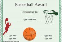 Basketball Certificate Template 3