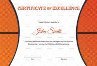 Basketball Certificate Template 5
