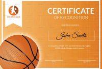 Basketball Certificate Template 7