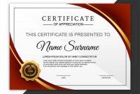 Beautiful certificate template design with best award symbol vec