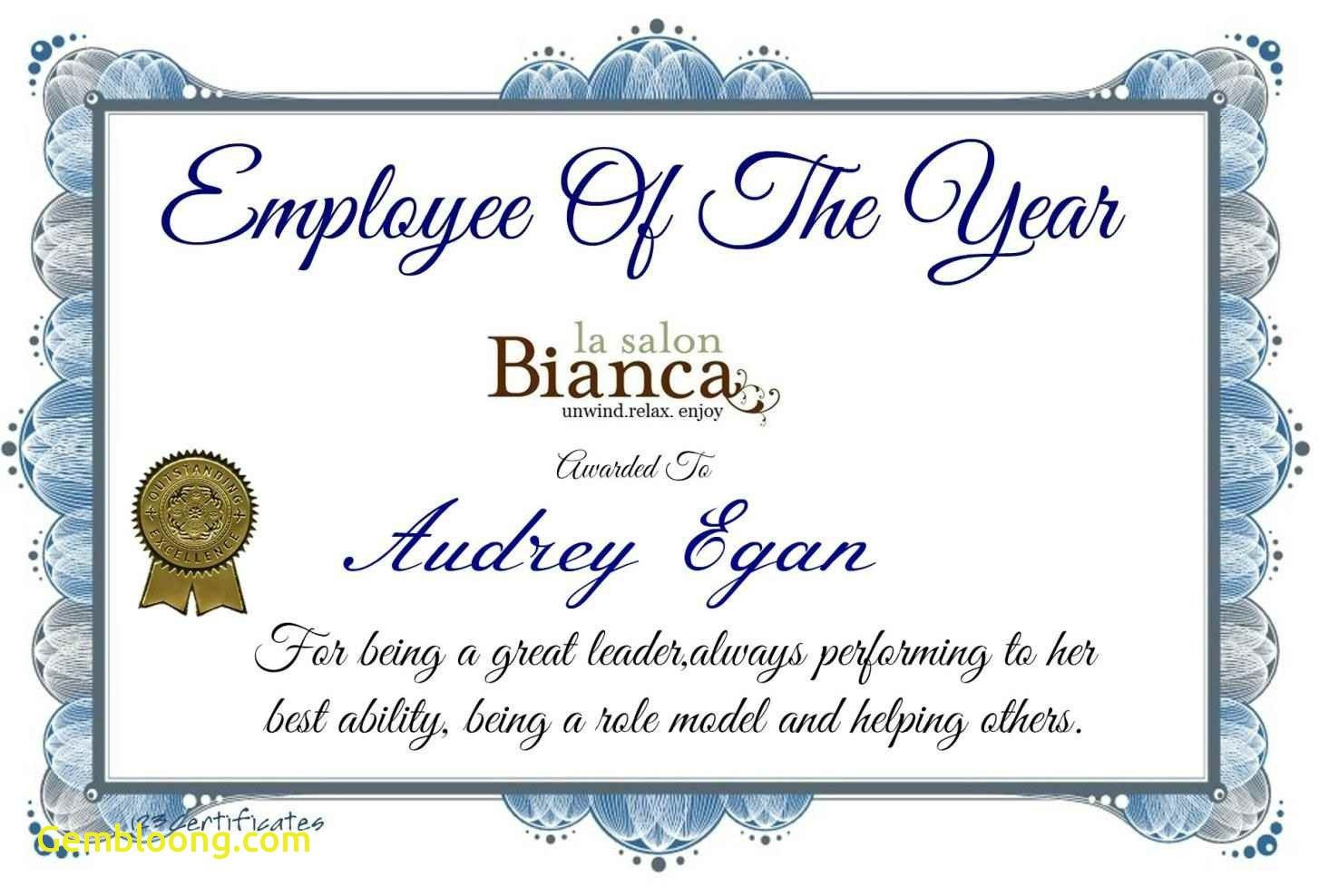 Best Employee Award Certificate Templates 3
