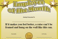 Best Employee Award Certificate Templates 4