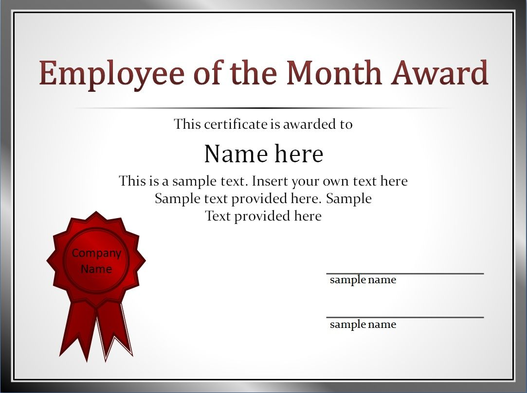 Best Employee Award Certificate Templates 8