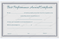 Best Performance Certificate Template 2