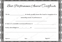 Best Performance Certificate Template 3