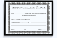 Best Performance Certificate Template 4
