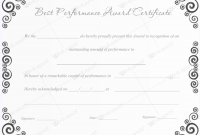 Best Performance Certificate Template 7