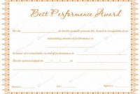 Best Performance Certificate Template 8