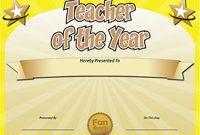 Best Teacher Certificate Templates Free 3