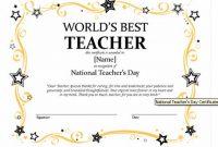 Best Teacher Certificate Templates Free 4