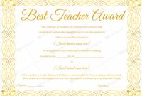 Best Teacher Certificate Templates Free 5