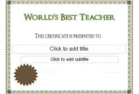 Best Teacher Certificate Templates Free 6