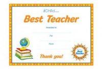 Best Teacher Certificate Templates Free 7