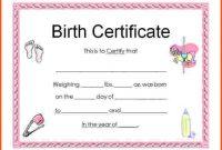 Birth Certificate Fake Template 3