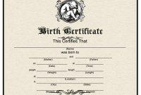 Birth Certificate Fake Template 6