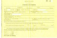 Birth Certificate Fake Template 8