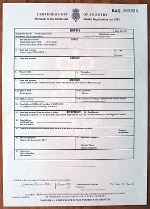 Birth Certificate Template Uk 7