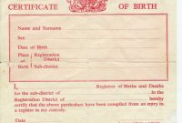 Birth Certificate Template Uk 8