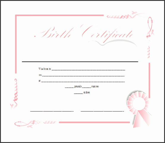 Ms Word Birth Certificate Template YifdX Inspirational Birth Certificate Template Free In Printable Ms Word