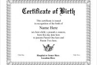 Birth Certificate Template for Microsoft Word 8
