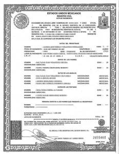 Birth Certificate Translation Template English To Spanish 5