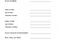 Birth Certificate Translation Template English to Spanish 7