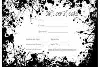 Black and White Gift Certificate Template Free 10