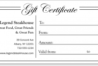 Black and White Gift Certificate Template Free 2