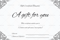 Black and White Gift Certificate Template Free 3