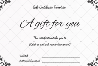Black and White Gift Certificate Template Free 4