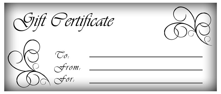 Black And White Gift Certificate Template Free 6