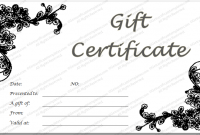 Black and White Gift Certificate Template Free 8