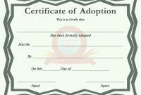 Blank Adoption Certificate Template 2