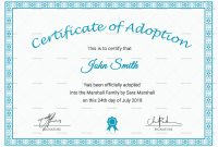 Blank Adoption Certificate Template 9