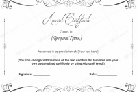 Blank Award Certificate Templates Word 5