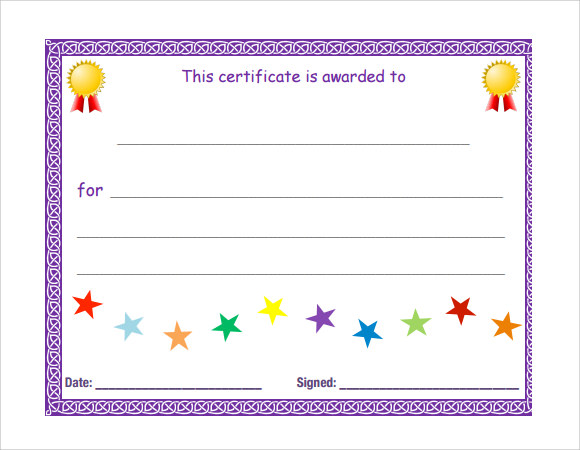 Blank Certificate Templates Free Download 5