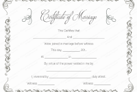 Blank Marriage Certificate Template 10