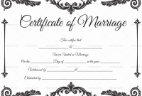 Blank Marriage Certificate Template 2