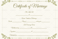 Blank Marriage Certificate Template 5