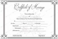Blank Marriage Certificate Template 6
