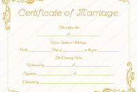 Blank Marriage Certificate Template 8