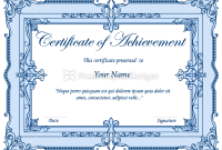 Certificate Border Design Templates 3