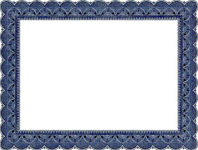Certificate Border Design Templates 6